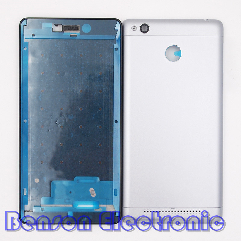 imágenes para Baansam nueva holder lcd marco frontal volver cubierta de batería para xiaomi redmi 3 s redmi 3 pro case vivienda con botones de volumen de energía