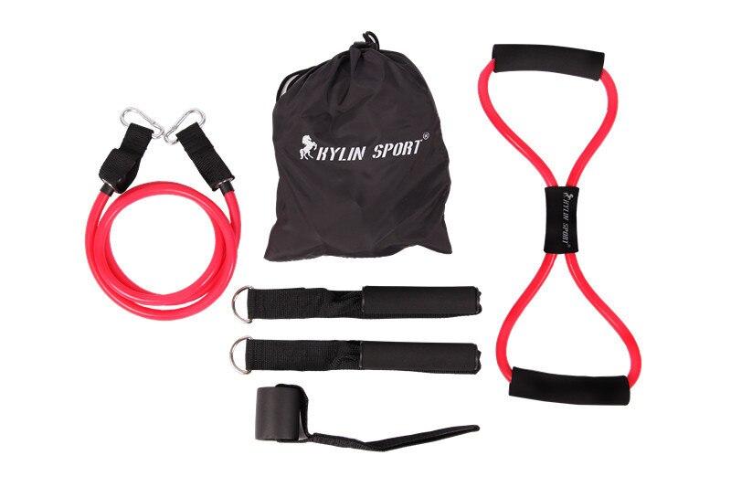 6stk kvinnor motstånd band elastisk träning set fitness rör yoga - Fitness och bodybuilding
