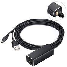 مهايئ عصا تلفزيون شبكة 10/100 ميجابايت في الثانية مهايئ عصا تلفزيون مايكرو USB مهايئ إيثرنت لـ Chromecast لـ Google Home