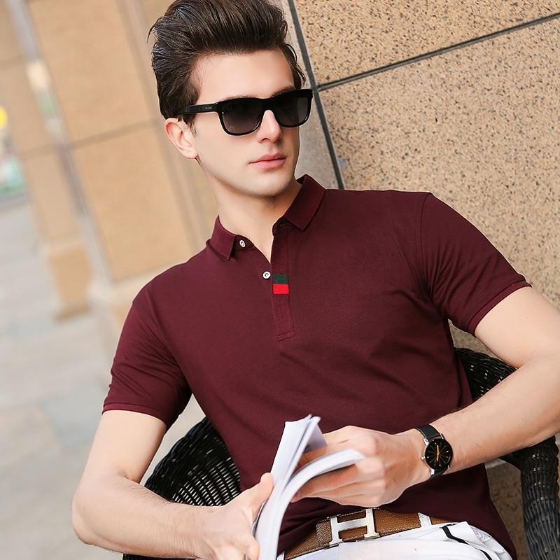 2019 New Fashion Brand Designer   Polo   Shirt Men's Top Grade Summer Short Sleeve Slim Fit Korean Poloshirt Casual Mens Clothing