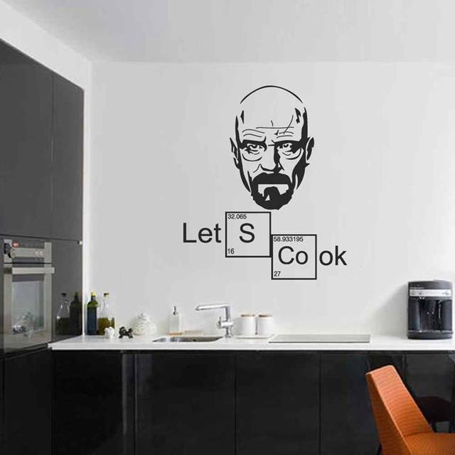 Online Battoo Kitchen Wall Decor Mural Let S Cook Breaking Bad Heisenberg Decal Stickers Periodic Table Elements Art Aliexpress