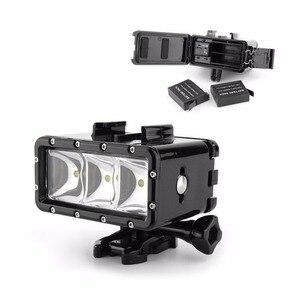 Image 2 - Go Pro 30 m Lặn Led Flash Ánh Sáng Dưới Nước lamp (2xHero4 Pin) cho GoPro Hero 6 5 3 + Phiên Xiaomi yi 4 K + lite SJCAM sj4000