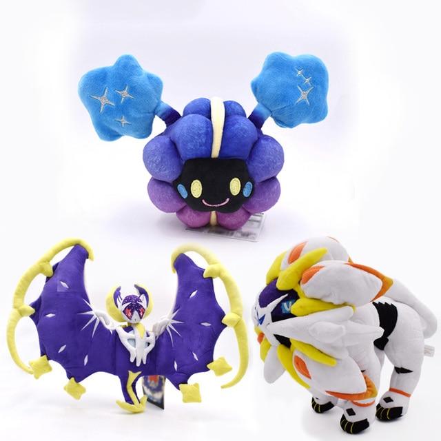 3 estilos Delicado Alola Solgaleo Lunala Cosmog SUN & MOON Peluche Bicho de pelúcia Brinquedos de Pelúcia Anime Japonês Figura de Ação Bonecas