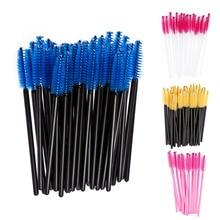 2016 Hot 100Pcs Disposable Eyelash Brush Mascara Wands Applicator Spoolers Eye Lashes Cosmetic Brushes Makeup Tool Multicolor