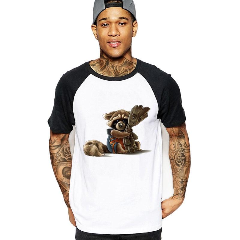 Verano Ropa Animados Hero Único Hombres Dibujos Guardianes Mapache Super Diseño Camisetas Camiseta Galaxy Hombre Swag 2019 Cohete PuwkXiTOZ