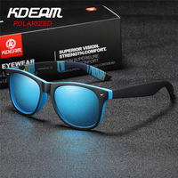 88a5abf073 KDEAM 2018 Sunglasses Polarized Men Square Sun Glasses Outdoor Classical Women  Brand design Eyewear 100%
