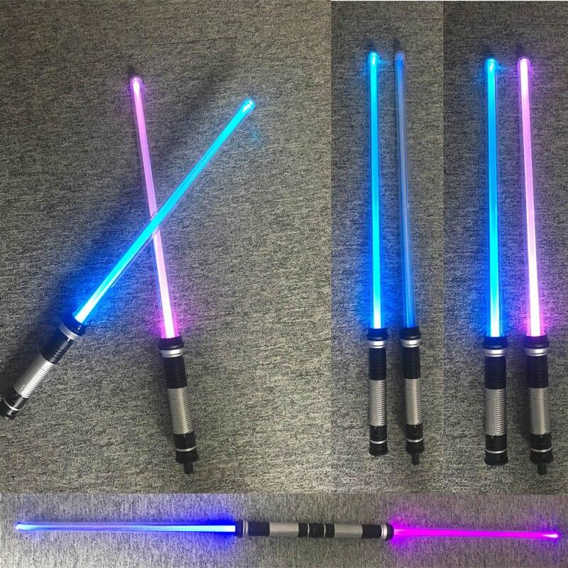 2 pièces/lot sabre laser Led clignotant lumière épée jouets Cosplay armes sabres cadeaux pour garçons livraison directe