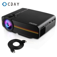 YG400 Mini Projector 1200 Lumens HD LED Video Home Theater Cinema Wired 1080P-HDMI Multimedia Player Digital Projector Beamer