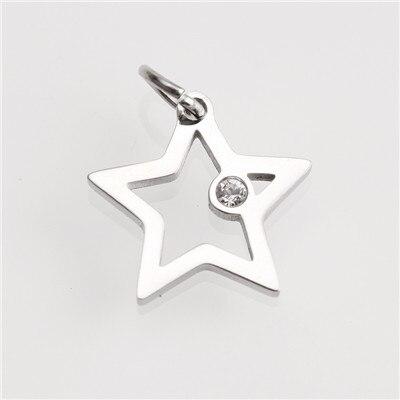 Горячее предложение! Позолоченные/посеребренные подвески из нержавеющей стали, модные подвески в форме Креста в форме звезды, ювелирные изделия, сделай сам, браслет, ожерелье, аксессуары - Окраска металла: AC18268