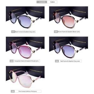 Image 5 - Oversized Polarized Sunglasses Women UV400 Gradient Lens Luxury Sun Glasses Vintage Ladies Sunglass Woman 2020 очки With Box