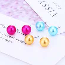 цена на WNGMNGL New 2019 Fashion Jewelry Simple Round 12 Sets Stud Earrings Large And Exquisite Muticolor Alloy Stud Earrings For Women