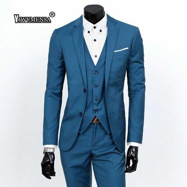 Yiwomensa 2019 trajes personalizados para hombre novio de Boda (chaqueta +  pantalón + chaleco) 47e4b0f0d4b