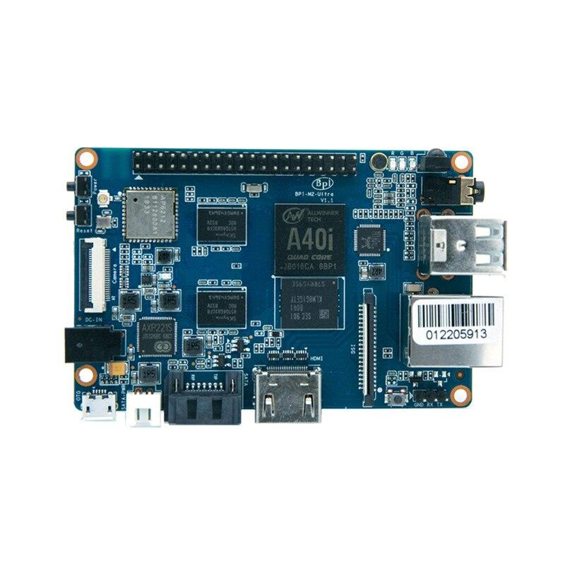 Carte de développement Quad Core A40i Allwinner puce banane Pi M2 Ultra avec WIFI et BT4.0, mémoire Flash EMMC à bord