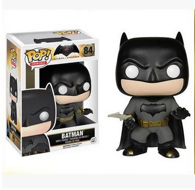 FUNKO POP Super Heroes DC Batman #84 PVC Action Figure Collection Model Kids Toys Doll 12CM SHAF031  marvel deadpool funko pop super hero pvc ow batman action figure toy doll