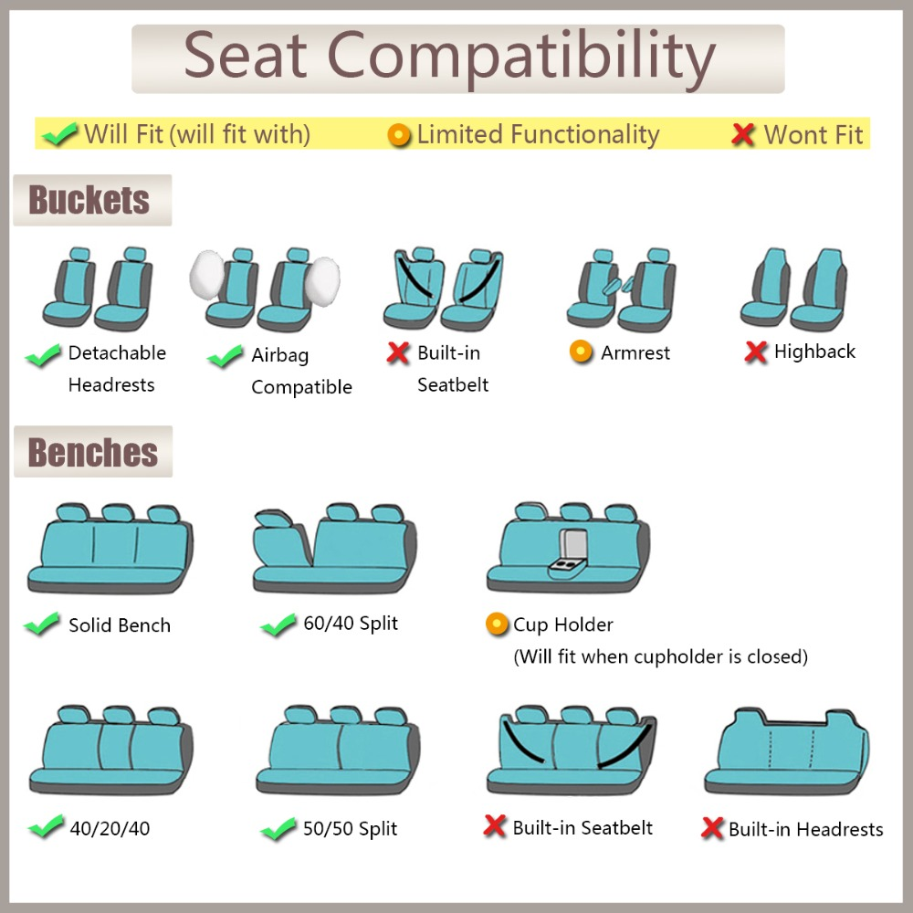 Image 5 - Artificial Leather Car Seat Covers 6 Color Universal Automotive Car Seat Interior Accessories 40/60 50/50 60/40 For 99% Cars-in Automobiles Seat Covers from Automobiles & Motorcycles