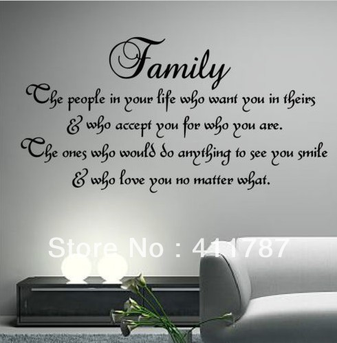 Home Decor Free Shipping Home Decor Family Inspirational Wall Art Quote Wall  Stickers Vinyl Stickers