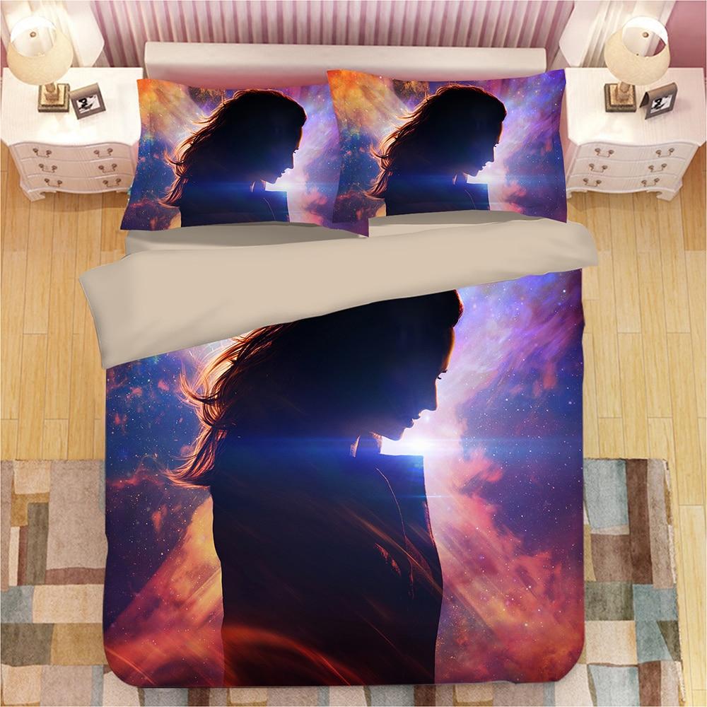 X Men Dark Phoenix 3D bedding set Duvet Covers Pillowcases Cartoon anime Aladdin comforter bedding sets