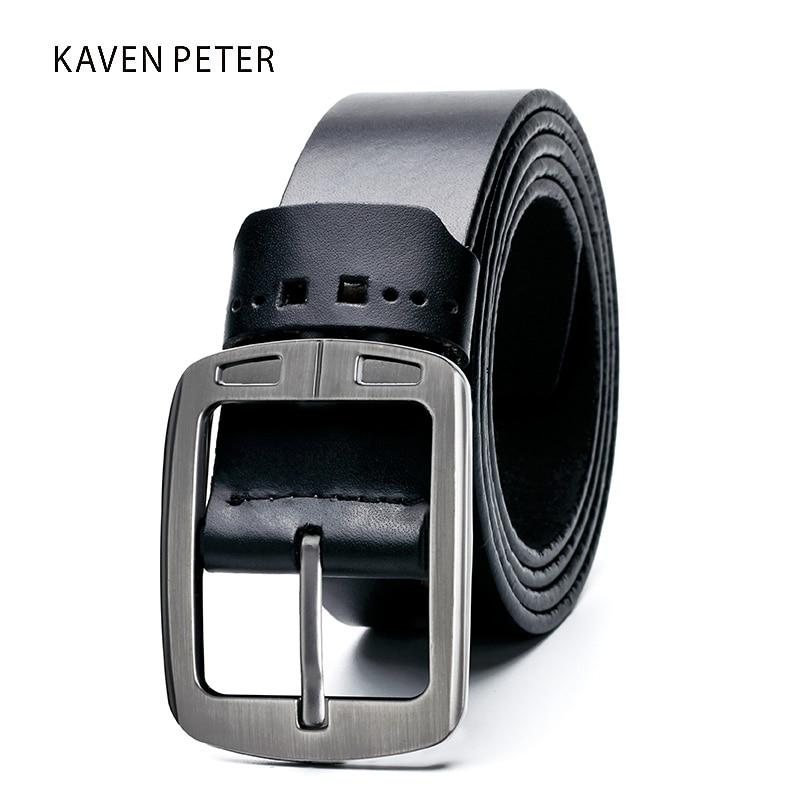 Leather Belt Menn Cowhide Designer Classic Menn Belter Leather Originale menn Luksus Rem Menn Belter Leather Belte Men Black Color