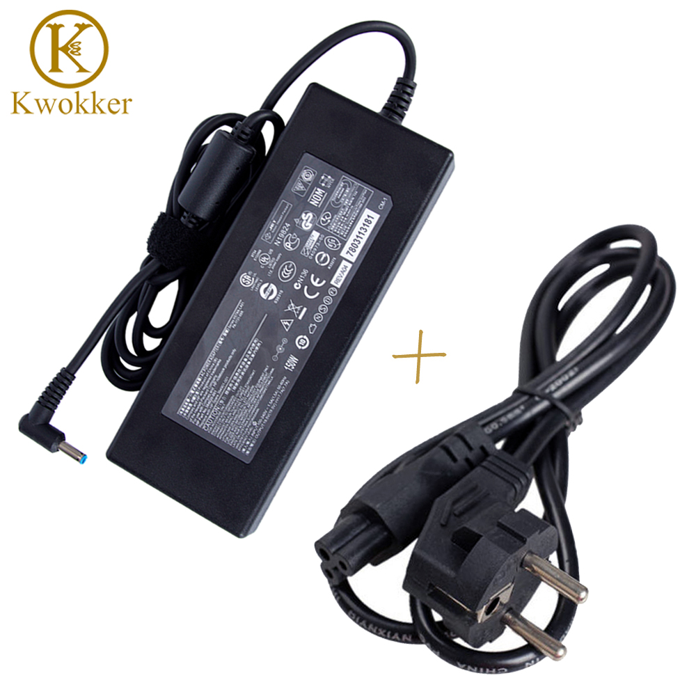 19.5V 7.7A 150W Replacement AC Adapter Charger for HP <font><b>Connector</b></font> <font><b>4.5mm</b></font>*3.0mm Laptop Adapter Charger + EU Power Cord EU Plug Cable image