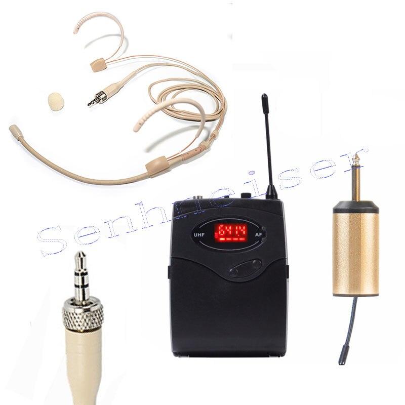 Casque sans fil Microphone système récepteur émetteur Portable Microphone pour Sennheiser EW100 EW300 EW500 G1 G2 G3