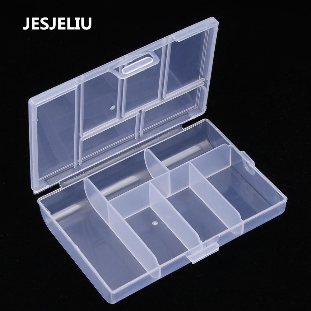 NEW Mini Clip Holder Dispenser Jewelry Organizer  Box Plastic Transparent Coin Pill Box Case Paper Clip Storage Box