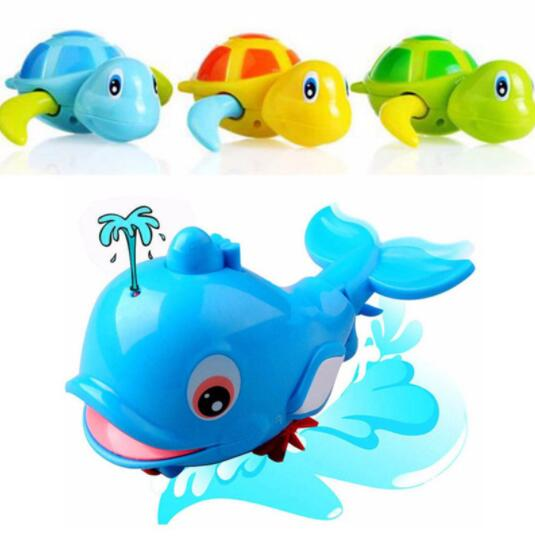 Buy 1pcs New Cute Animal Turtle Dolphin Baby Shower Toy Swimming Pool