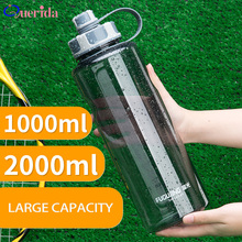 2000ml Bottiglie di Acqua di Grande Capacità Esterno Portatile di Sport di Plastica Bottiglia di Tè Con Tè Infuser di Forma Fisica A prova di perdite Shaker Bottiglie