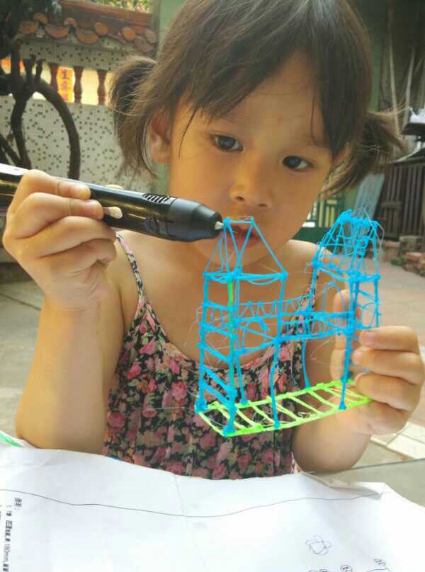 5 Colors/lot famous brand HIC 3d Doodlers drawing pen 3d printer pen for kids