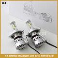 H4 HB2 9003 Привет/Lo Led с Чипом Высокой Мощности 6000lm Сильный Яркий Фары Автомобиля Противотуманные фары Conversion Kit