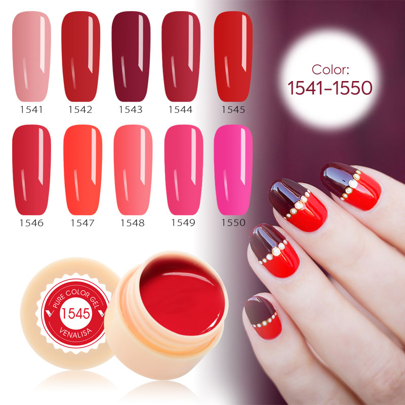 Venta caliente 2019 10 unids/lote VENALISA empapar COLOR GELPAINTING GEL abrigo COLOR de COLOR puro de GEL UV
