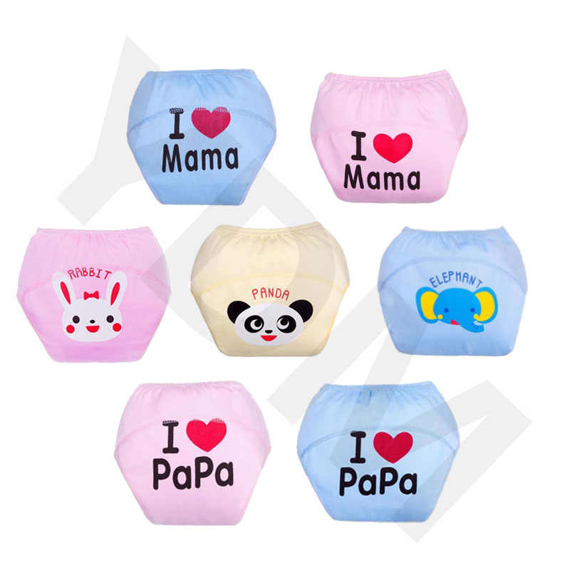 1Pcs Baby Training Pants Panties Diapers Reusable Washable Baby Cloth Diaper Cover Waterproof Cloth Nappy Cotton Diapers