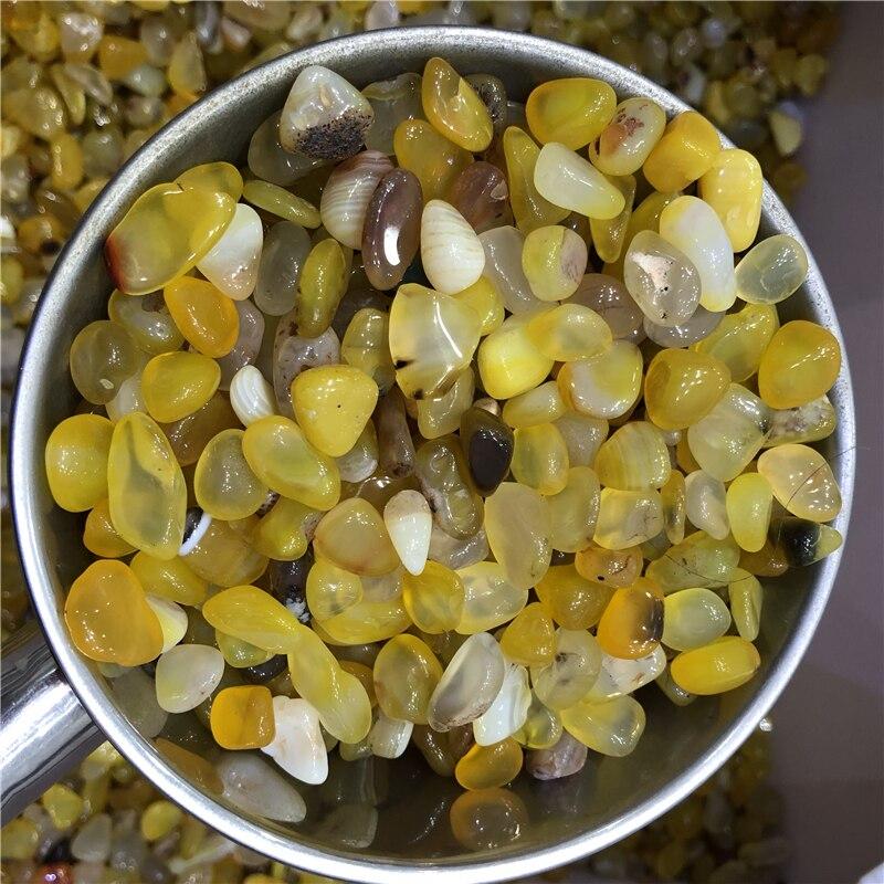 1 kg top qualité poli orange agate gravier pierre cristal pierre de poche pierre gravier pierre chine rugueux spécimen en gros