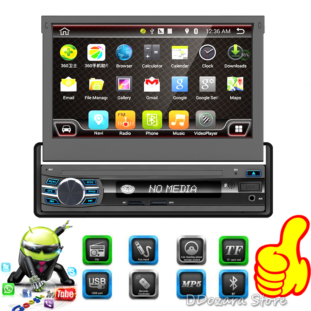 7 inch Android 6.0 Auto Radio Stereo Single 1 din Quad Core Universal Car Media Player HD Capacitive 2GB+16GB Head Unit