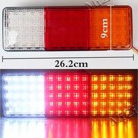 MZORANGE Car Styling 12V 75 LED Truck Tail Light Lamp Stop Trailer Light For Caravan Trailers