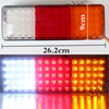 MZORANGE Car Styling 12V 75 LED Truck Tail Light Lamp Stop Trailer Light For Caravan Trailers