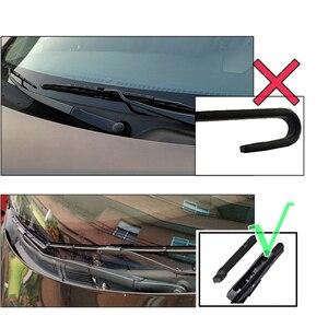 Image 2 - Misima przedniej szyby pióra wycieraczek do przedniej szyby zestaw dla Dacia Renault Logan MK2 2016 2017 2018 2019 2020 z przodu wycieraczka do tylnej szyby zestaw