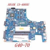 NOKOTION ACLU1 ACLU2 NM A271 Main board For lenovo Ideapad G40 70 14 inch laptop motherboard HD 8500 DDR3L SR1EK I3 4005U work