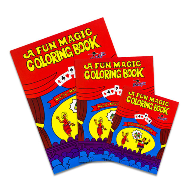 Funny Comedy Magic Coloring Book smal/Medium/big size ellusionist ...