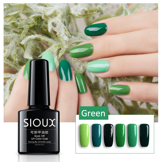 Sioux gel polaco barniz uv LED verde color Series UV gel Bases ...