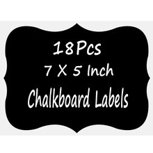 18 PCs Big Chalkboard Blackboard Sticker Craft Kitchen Jar Organizer Labels Glass Removable Stationery Office