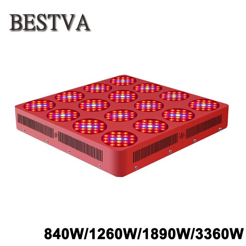 BESTVA 840W 1260W 1890W 3360W full spectrum led grow light for indoor plants medical greenhouse hydroponic