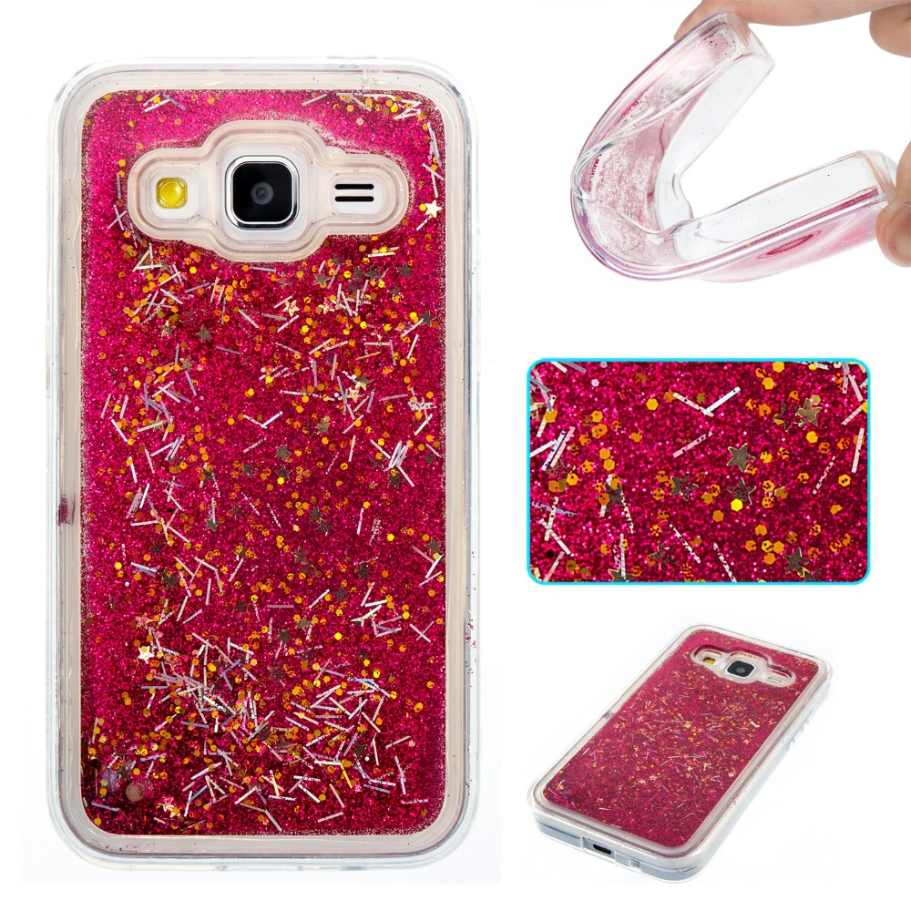 Case For Samsung Galaxy Core Prime G360 G360H Cover Bling Transparent Liquid Glitter Paillette Quicksand Soft TPU Case kimTHmall