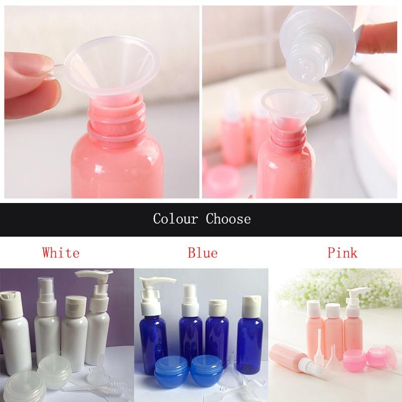 Image 5 - Refillable Travel Bottles Set Package Cosmetics Bottles Plastic Pressing Spray Bottle Makeup Tools Kit For Travel Vaporizer-in Refillable Bottles from Beauty & Health