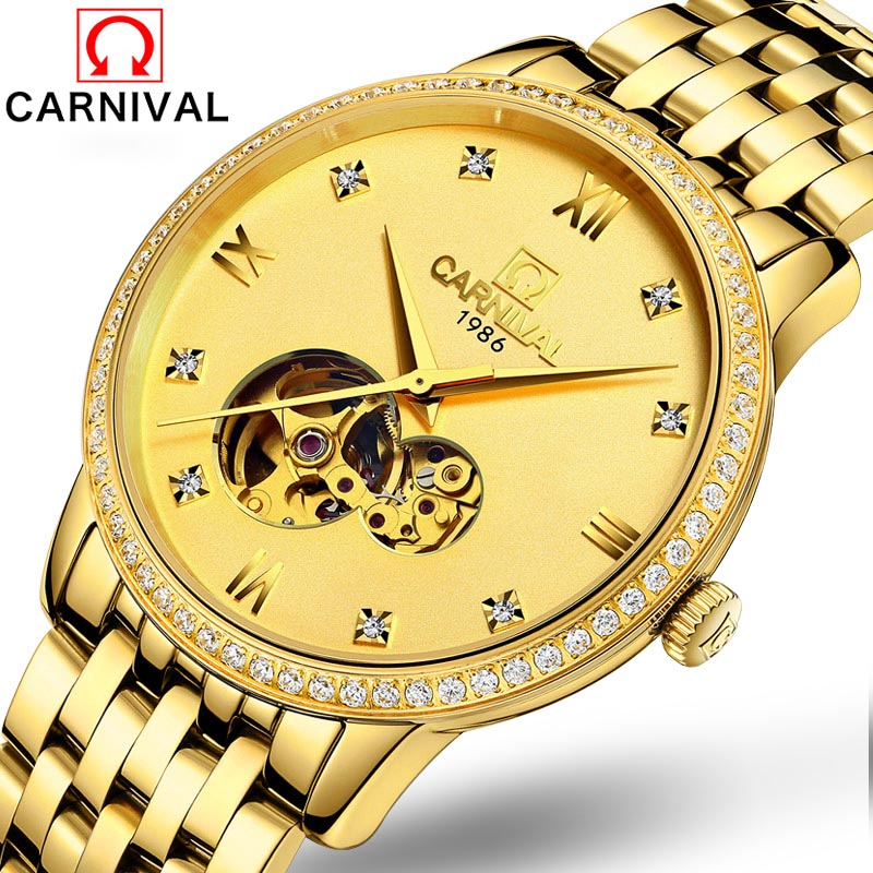 Montre mécanique automatique hommes marque de luxe Tourbillon montres saphir or montres plein acier étanche relogio masculin