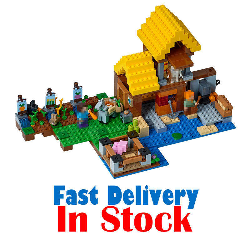 Lepin 615pcs 18039 The Farm Cottage 21144 Alex House Skeletons My World Minecraft Building Blocks Bricks educational toys Gifts обувь для легкой атлетики love the world alex tfp347 hj japan
