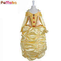 Girls Dress Belle Princess Dress Cute Character Children Show Constume With Lace Decoration Dance Dress Wedding