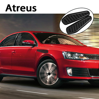 Atreus 2X Car hood fender side decorative carbon fiber aluminum stickers For BMW e46 e39 e36 Audi a4 b6 a3 a6 c5 Renault duster image