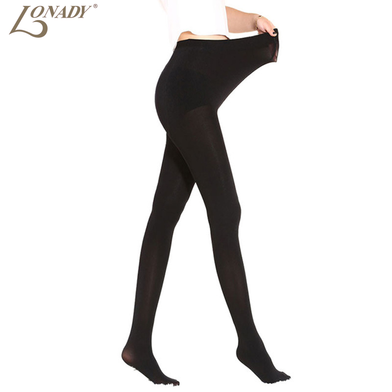 100D Autumn Winter New Womens Black Glossy Pantyhose Step Foot Tights Maternity Sexy Warm Medias Womens Stockings