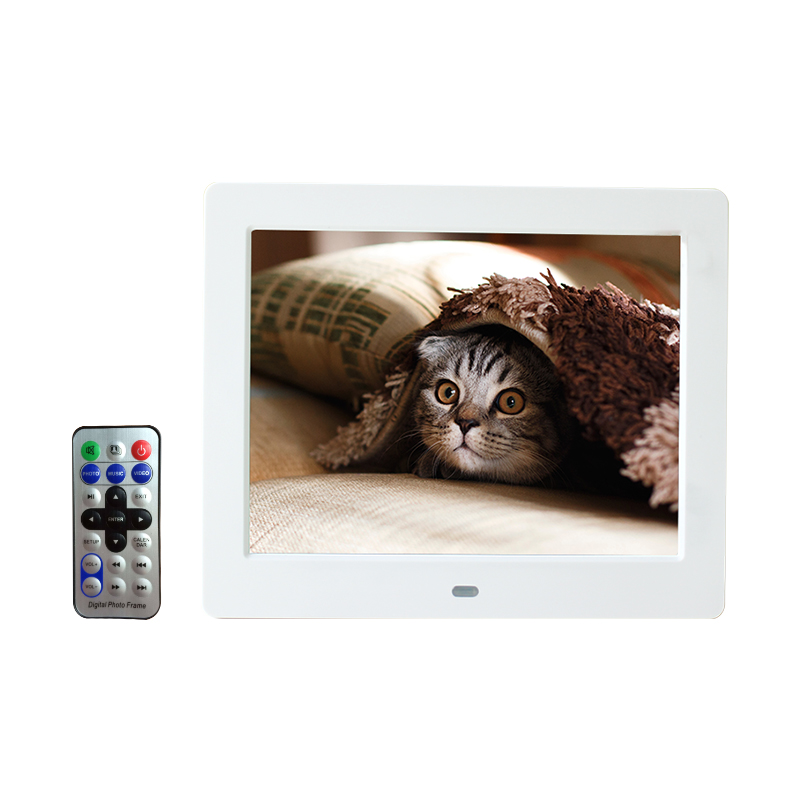 8 inch Digital Photo Frame IPS screen 4:3 Electronic Photo Album HDMI 800*600 with Clock Calendar Desktop and Signage Player