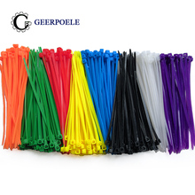 100 pcs/lot 8 Color 3*100mm bag width 2.5MM Nylon Cable Ties Self-Locking Strong International standards